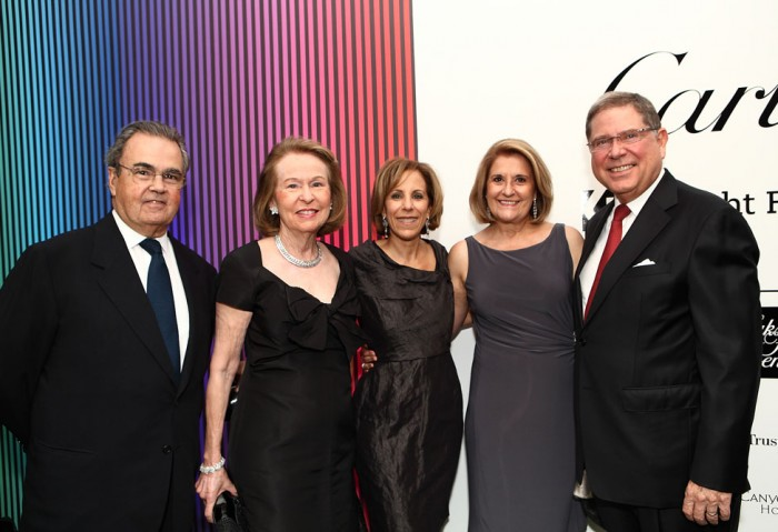 Carlos and Rosa de la Cruz, MOCA Executive Director Bonnie Clearwater, Susana and Alberto Ibargüen