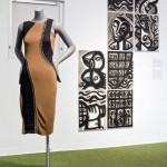 Installation view Donna Karan Spring 2012 Collection and ink washes by Philippe Dodard