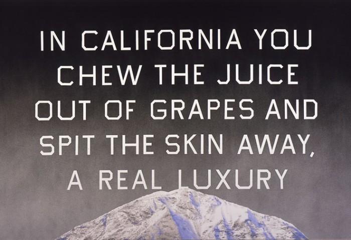 Ed Ruscha, California Grapeskins, 2010.