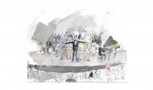 Study for Du Holde Kunst, 2012 Watercolor 6 in. x 9 in. (15.24 cm x 22.86 cm)