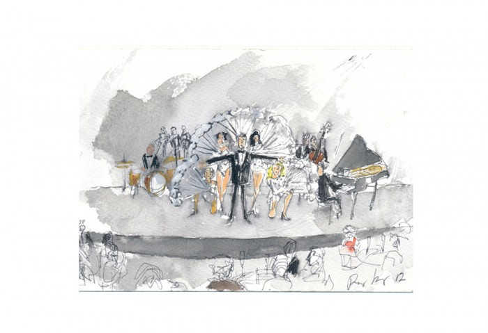 Study for Du Holde Kunst, 2012 Watercolor 6 in. x 9 in. (15.24 cm x 22.86 cm)