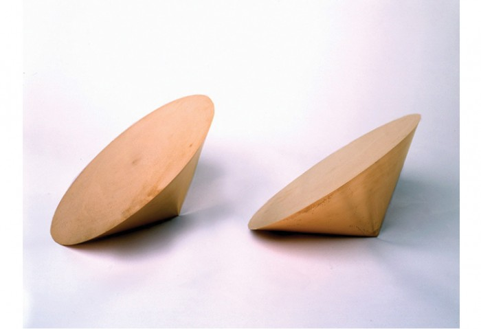 Roni Horn<br>Pair Object Via, 1990 <br>Solid Forged Copper<br>13 in. x 13 in. x 8 in.<br>Collection of the Museum of Contemporary Art, North Miami Promised Gift of Estelle and Paul Berg