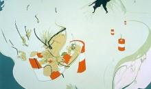 Inka Essenhigh, Volcanic Ash, 2000  Oil on canvas on framed  70 in. x 84 in. Gift of Douglas S. Cramer