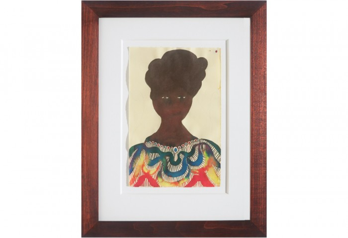 Chris Ofili <br>Untitled, 1999 <br>Watercolor on paper 9 ½ x 6 1/8 inches <br>Gift of Douglas S. Cramer