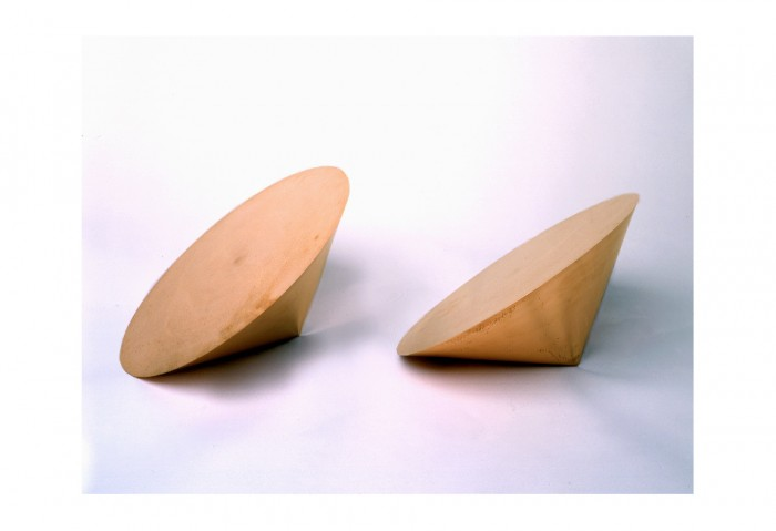 Roni Horn, <i>Pair Object Via</i>, 1990, Solid Forged Copper, 13 x 13 x 8 inches, Collection of the Musuem of Contemporary Art, North Miami, Promised Gift of Estelle and Paul Berg