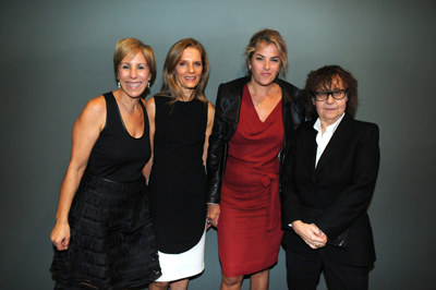 MOCA Director Bonnie Clearwater, Sandra Brant, artist Tracey Emin, Ingrid Sischy at the opening reception of Bill Viola: Liber Insularum