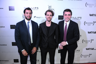 Hisham Sultan, Roc Laseca, Edoardo Didero at MOCA's Vanity Fair / Vanity Fair International Party
