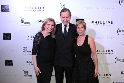 Board chair Dr. Kira Flanzraic, Simon dePury, and Bonnie Clearwater at MOCA's Vanity Fair / Vanity Fair International Party
