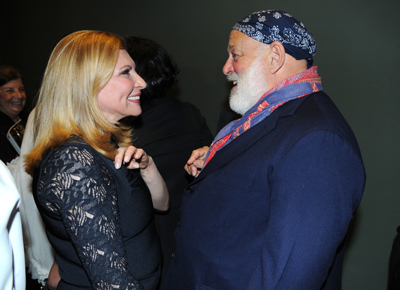 Board chair Dr. Kira Flanzraich and Bruce Weber at MOCA's Vanity Fair / Vanity Fair International Party