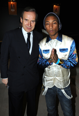 Simon de Pury and Pharell at the dinner honoring artist Bill Viola.