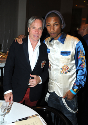 Tommy Hilfiger and Pharell at the dinner honoring artist Bill Viola.