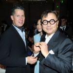 Stefano Tonchi and Mr.Chow at the dinner honoring artist Bill Viola.