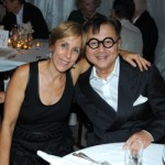 Bonnie Clearwater and Mr. Chow at the dinner honoring artist Bill Viola.