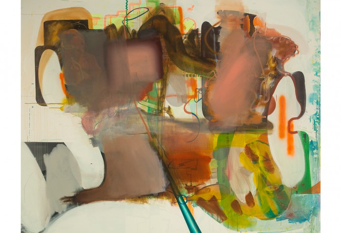 Albert Oehlen, <i>Ohne Titel<i/>, 2005, Oil on Canvas, 70 ¾ x 90 ½ inches, Collection of the Museum of Contemporary Art, North Miami 	Gift of the Artist