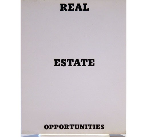 <i>Real Estate Opportunities</i>, 1970<br>Artist book, 7 x 5 1/2 inches (17.78 x 13.97 cm)<br>Gift of Debra and Dennis Scholl