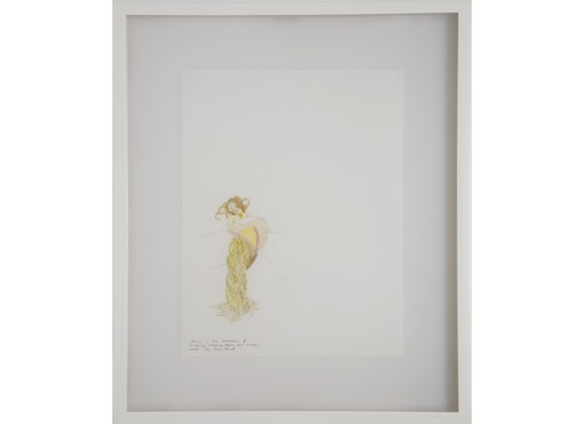 <i>Fast Set (Mixis, the Actress)</i>, 2000<br>Ink on paper, 16 x 13 1/2 inches (40.64 x 34.29 cm)<br>Purchased with funds provided by the Gucci Young Artist Fund