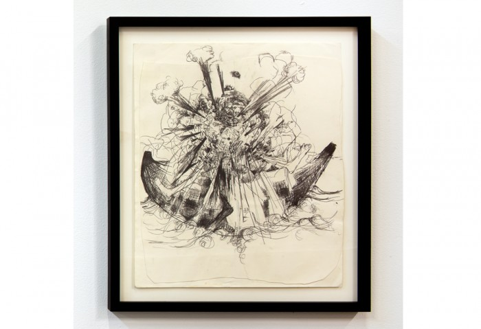 Rick Ulysse, Untitled, From The Resurrection of Toussaint Series, 2012,  Graphite on paper, 14 x 17 inches , Collection of the Museum of Contemporary Art, North Miami