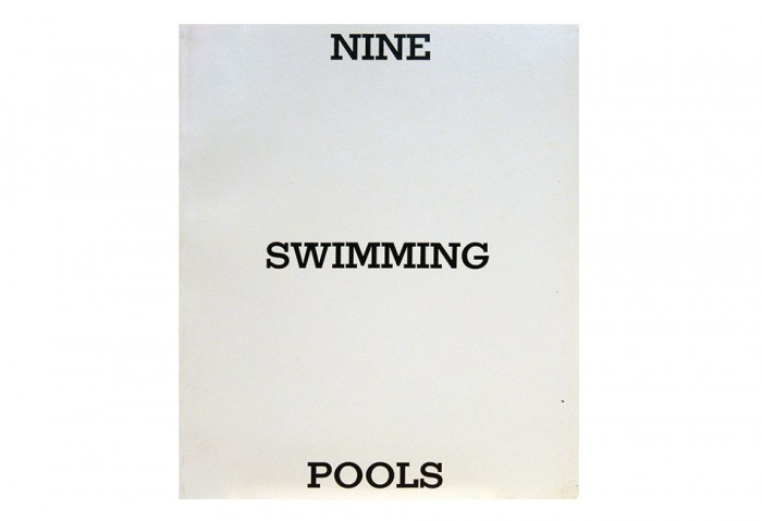 <i>Nine Swimming Pools</i>, 1968<br>Artist book, 7 x 5 1/2 inches (17.78 x 13.97 cm)<br>Gift of Skip Van Cel