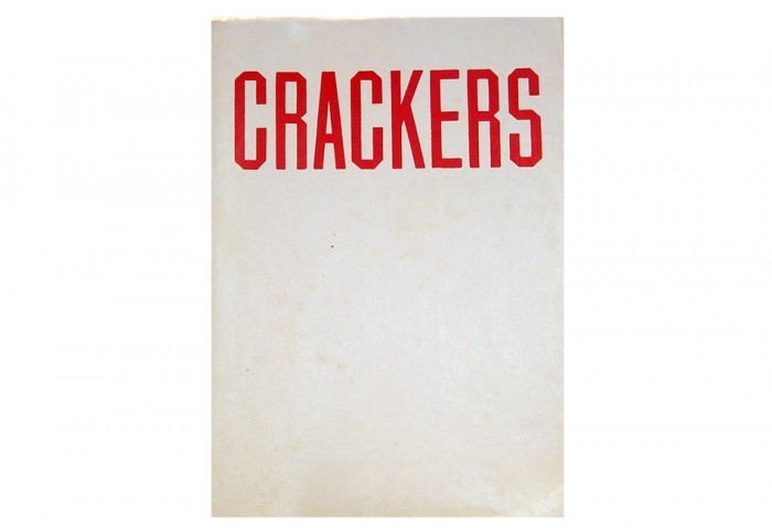 <i>Crackers</i>, 1969<br>Artist book, 8 7/8 x 6 inches (22.54 x 15.24 cm)<br>Gift of Skip Van Cel