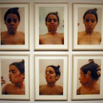 Untitled (Glass on Face), 1972Color photograph, 24 x 17 1/4 inches (60.96 x 43.82 cm)Purchased with funds provided by Rosa and Carlos de la Cruz