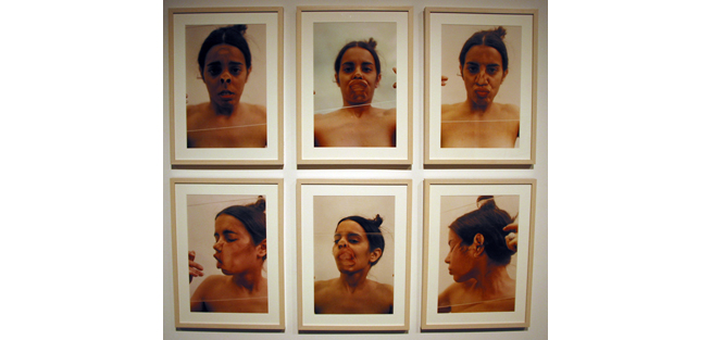 <i>Untitled (Glass on Face)</i>, 1972<br>Color photograph, 24 x 17 1/4 inches (60.96 x 43.82 cm)<br>Purchased with funds provided by Rosa and Carlos de la Cruz