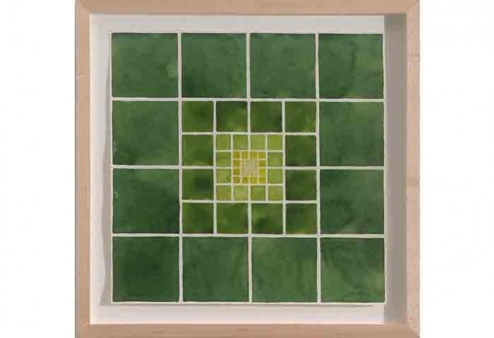 <i>Meta Series-Green</i>,	 2002<br>Watercolor on paper, 15 x 15 inches (38.1 x 38.1 cm)<br>Purchased with funds provided by Francine Birbragher and Leslie Rozencwaig