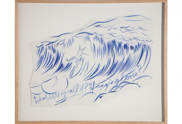 <i>Untitled (Why do they call it hanging ten?)</i>, 2003<br>Ink on paper, 24 x 19 inches (60.96 x 48.26 cm)<br>Gift of the Artist