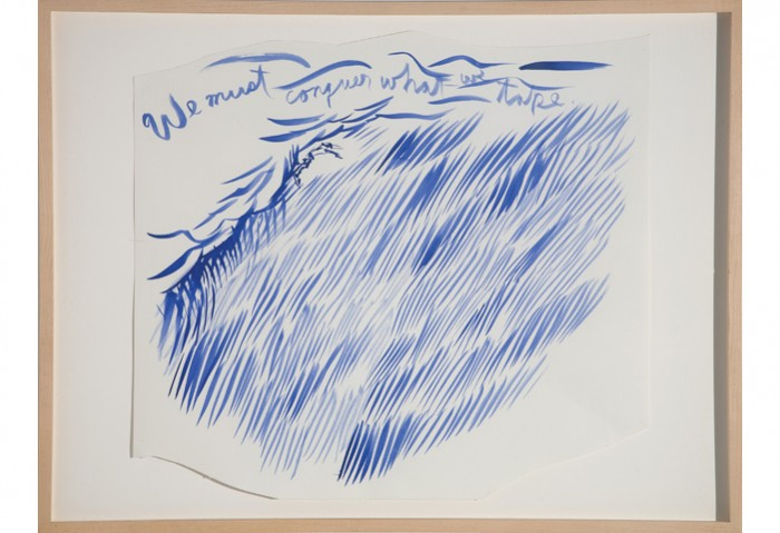 <i>Untitled (We must conquer)</i>, 2003<br>Ink on paper, 24 x 19 inches (60.96 x 48.26 cm)<br>Gift of the Artist