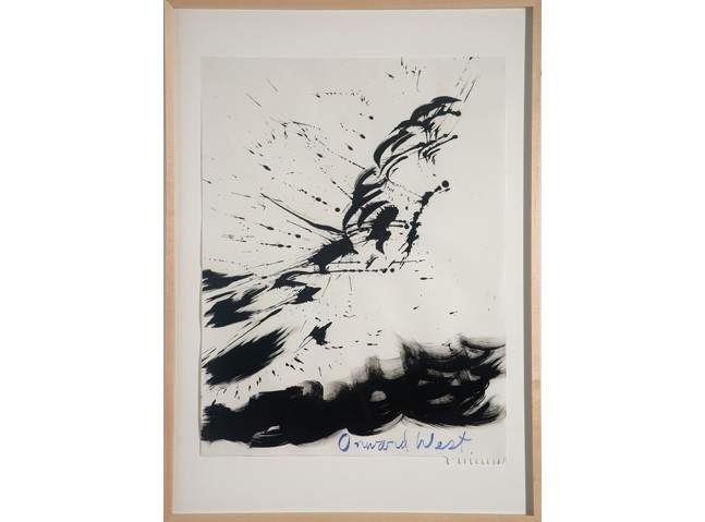 <i>Untitled (Onward West)</i>, 2003<br>Ink on paper, 24 x 19 inches (60.96 x 48.26 cm)<br>Gift of the Artist