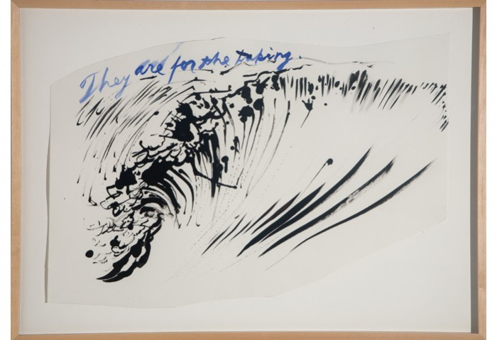 <i>Untitled (They are for the taking)</i>, 2003<br>Ink on paper, 24 x 19 inches (60.96 x 48.26 cm)<br>Gift of the Artist
