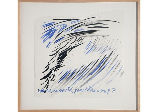 <i>Untitled (Where, in sooth, goest thou out?)</i>, 2003<br>Ink on paper, 24 x 19 inches (60.96 x 48.26 cm)<br>Gift of the Artist
