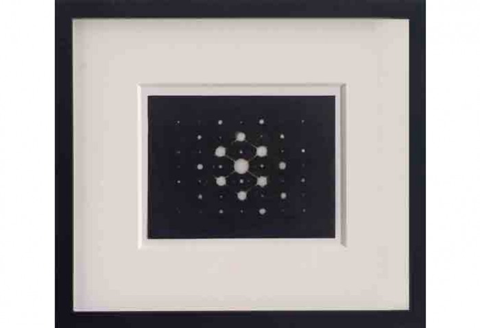 <i>Electron Diffraction Photograph on Atoms in a Crystal</i>, 2004<br>Ink on mylar,	5 x 6 1/2 inches (12.7 x 16.51 cm)<br>Gift of Fredric and Kathy Snitzer