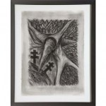 Drawing for Peter (Busa), 1984-85Charcoal on paper, 30 x 22 1/4 inches (76.2 x 56.52 cm)Gift of Joan and Roger Sonnabend