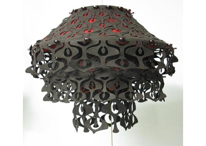 <i>Subscription Lamp II</i>, 2010<br>Felt and acrylic, 12 x 15 inches (30.5 x 38.1 cm)<br>Gift of Barbara, David, and Casey Herzberg in memory of Sophie Miller