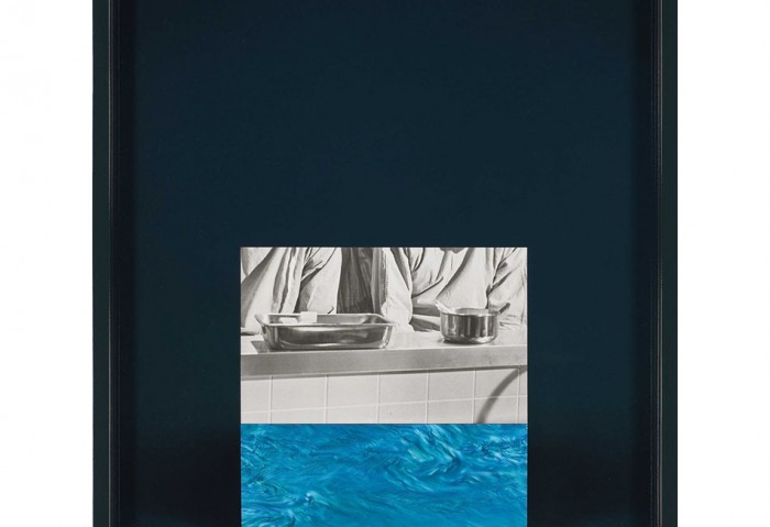 <i>Teal Swirl</i>, 2010<br>Silver gelatin on C-print with painted frame, 14 1/2 x 11 1/2 x 1 1/2 inches (36.83 x 29.21 x 3.81 cm)<br>Purchased with funds provided by MOCA's Bohemian Bash