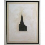 Untitled #100 (Steeple), 1980Tempera and collage on paper, 20 x 16 inches (50.8 x 40.64 cm)Gift of Douglas S. Cramer
