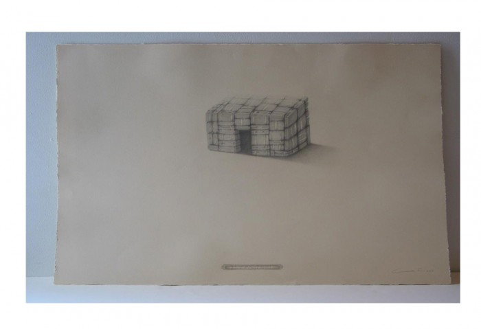 <i>Home Sweet Emoh</i>, 2004<br>Graphite on paper, 22 x 30 inches (55.88 x 76.2 cm)<br>Gift of Liza and Arturo F. Mosquera