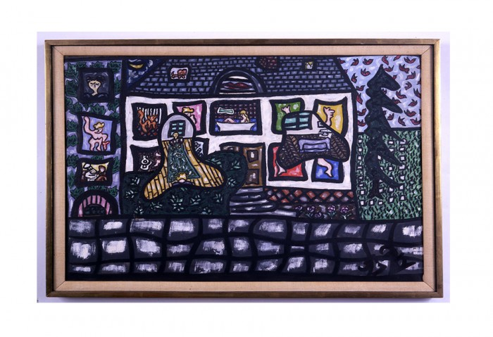 <i>Longpont</i>,	1957<br>Oil on canvas, 24 x 29 inches (60.96 x 73.66 cm)<br>Gift of Rosalind Jacobs