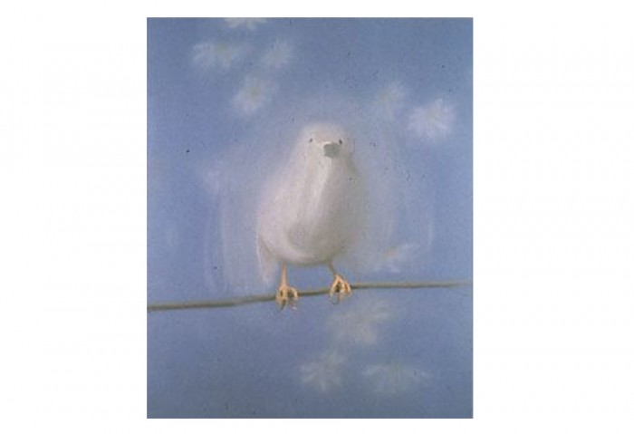 <i>Bird in White (for Johnny Cash) White Bird</i>, 1998<br>Oil on canvas, 74 x 50 inches (187.96 x 127 cm)<br>Anonymous gift