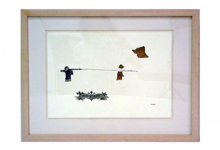 <i>Untitled (Bear Season)</i>,	1998<br>Ink, watercolor, rootbeer on paper, 9 x 12 5/8 inches (22.86 x 32.07 cm)<br>Purchased with funds from the Janet and Robert Liebowitz Acquisitions Fund