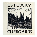 Estuary Cupboards, 1973Card (letterpress, folded), 5 1/2 x 4 11/16 inches (14 x 11.9 cm)Gift of Marvin and Ruth Sackner