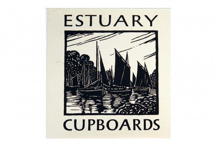 <i>Estuary Cupboards</i>, 1973<br>Card (letterpress, folded), 5 1/2 x 4 11/16 inches (14 x 11.9 cm)<br>Gift of Marvin and Ruth Sackner