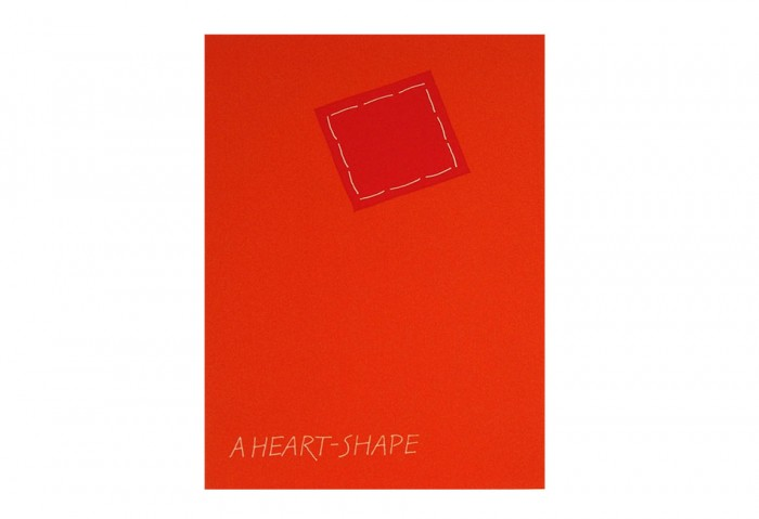 <i>A Heart-Shape</i>, 1971<br>Card (silkscreen), 5 13/16 x 4 3/16 inches (14.8 x 10.6 cm)<br>Gift of Marvin and Ruth Sackner