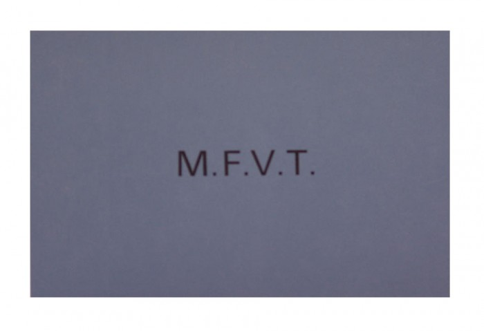 <i>Motor Fishing Vessel Tea (M.F.V.T.)</i>, 1973<br>Card (silkscreen), 4 x 6 inches (10.2 x 15.2 cm)<br>Gift of Marvin and Ruth Sackner