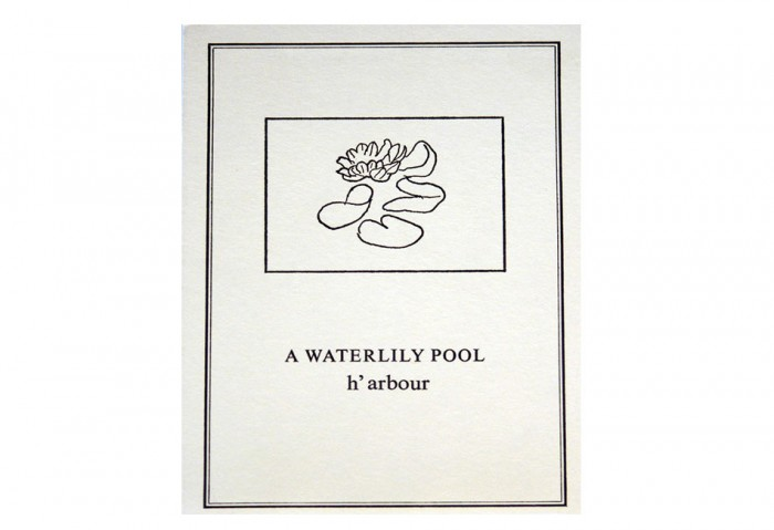 <i>A Waterlily Pool</i>, 1970<br>Card,	5 13/16 x 4 1/8 inches (14.7 x 10.4 cm)<br>Gift of Marvin and Ruth Sackner