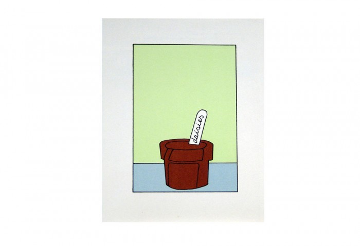 <i>Daisies</i>, 1971<br>Card (silkscreen), 6 1/16  x 4 1/16 inches (15.4 x 10.3 cm)<br>Gift of Marvin and Ruth Sackner