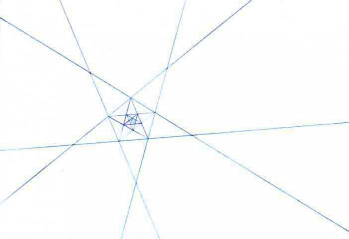 <i>Blue print (Pentagram)</i>,	2005<br>Chalk, dimensions variable<br>Purchased with funds provided by Janet and Robert Liebowitz