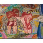 Boxing Match in a Tree,	1981Acrylic on canvas, 71 3/4 x 94 5/8 inches (182.25 x 240.35 cm)Gift of Earl Millard