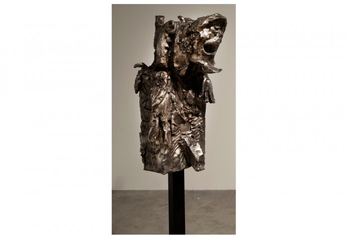 <i>BABY ADMIRAL NULLPE, SEA BATTLE NO PROBLEM</i>, 2007<br>Bronze, 41 3/4 x 17 11/16 x 20 1/2 inches (106 x 45 x 52 cm)<br>Gift of the Artist