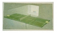 The End of Ping Pong, 2002Mixed media on paper, 12 1/2 x 19 inches (31.75 x 48.26 cm)Gift of Liza and Dr. Arturo F. Mosquera
